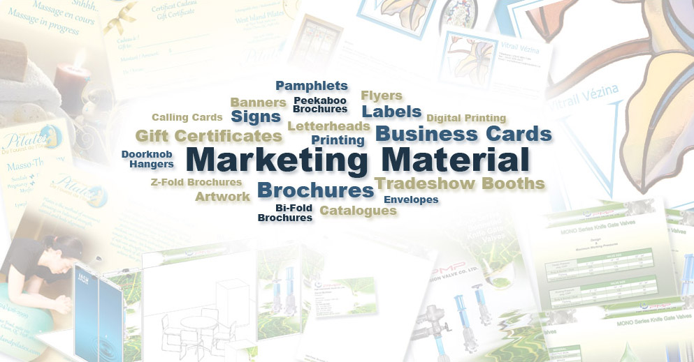 Peter Cashin Services Marketing Material